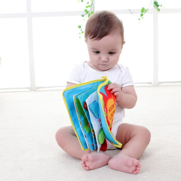 Soft Books Infant Early cognitive Development My Quiet Bookes baby goodnight educational Unfolding Cloth Book Activity 3