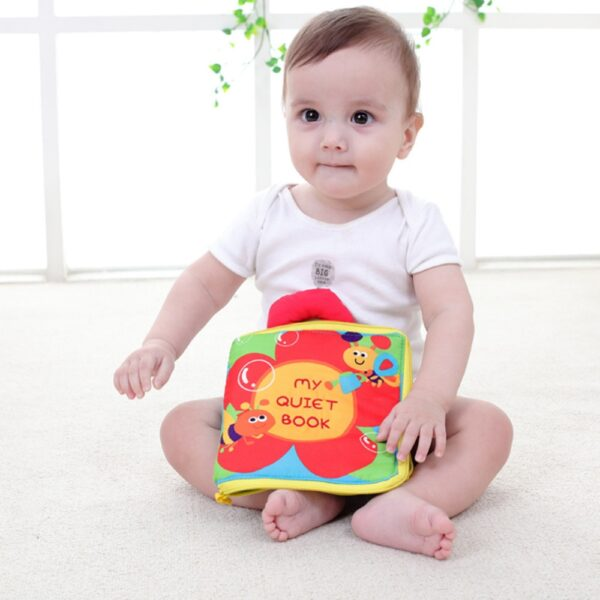 Soft Books Infant Early cognitive Development My Quiet Bookes baby goodnight educational Unfolding Cloth Book Activity 4