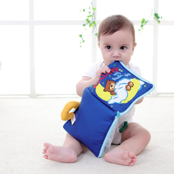 Soft Books Infant Early cognitive Development My Quiet Bookes baby goodnight educational Unfolding Cloth Book Activity 5
