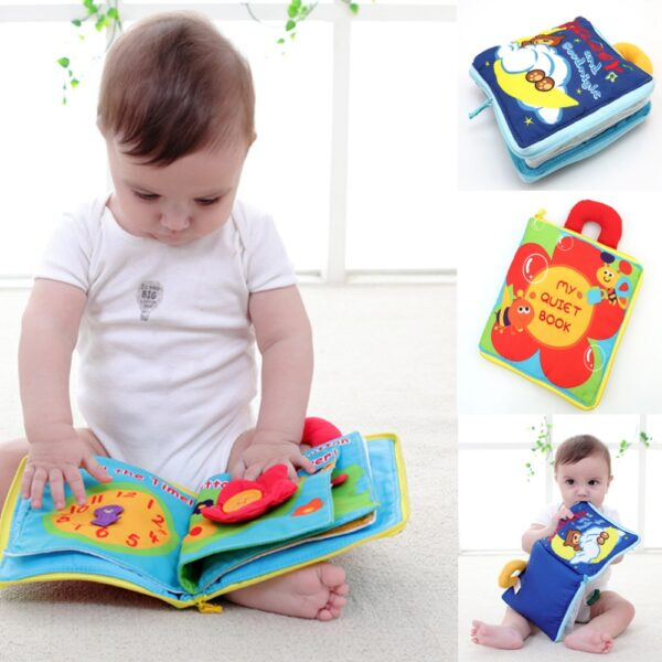 Soft Books Infant Early cognitive Development My Quiet Bookes baby goodnight educational Unfolding Cloth Book Activity