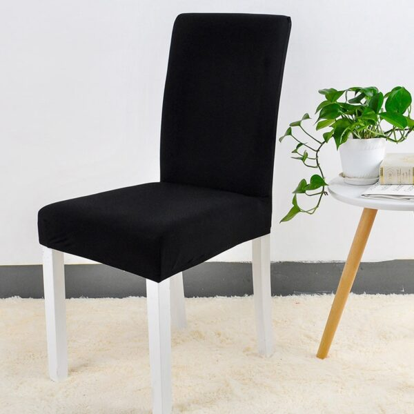 Spandex Chair Cover Stretch Elastic Dining Seat Cover for Banquet Wedding Restaurant Hotel Anti dirty Removable 2