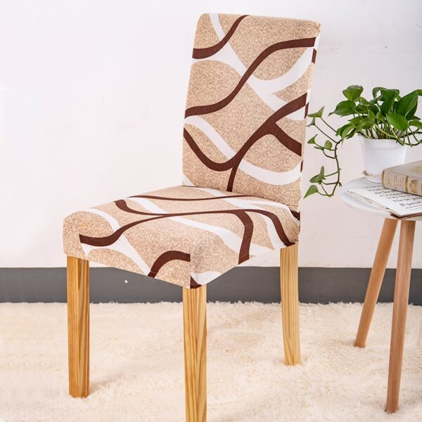 Spandex Chair Cover Stretch Elastic Dining Seat Cover for Banquet Wedding Restaurant Hotel Anti dirty Removable 3