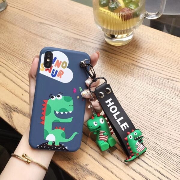 Super cute Stitch mini Pooh dinosaur lanyard tand silicone personality drop case for iphone 6 7 4.jpg 640x640 4