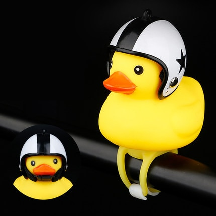 Bicycle Duck Bell with Light Small Yellow Duck MTB Road Bike Motor Helmet Riding
