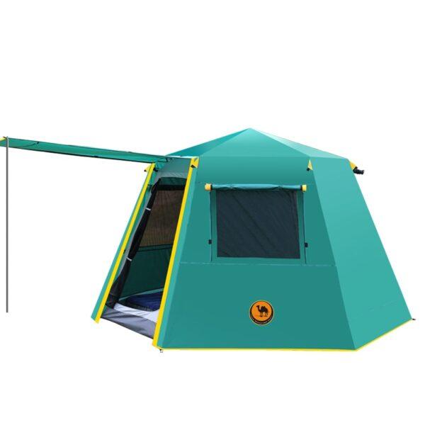 UV hexagonal aluminum pole automatic Outdoor camping wild big tent 3 4persons awning garden pergola 245 1