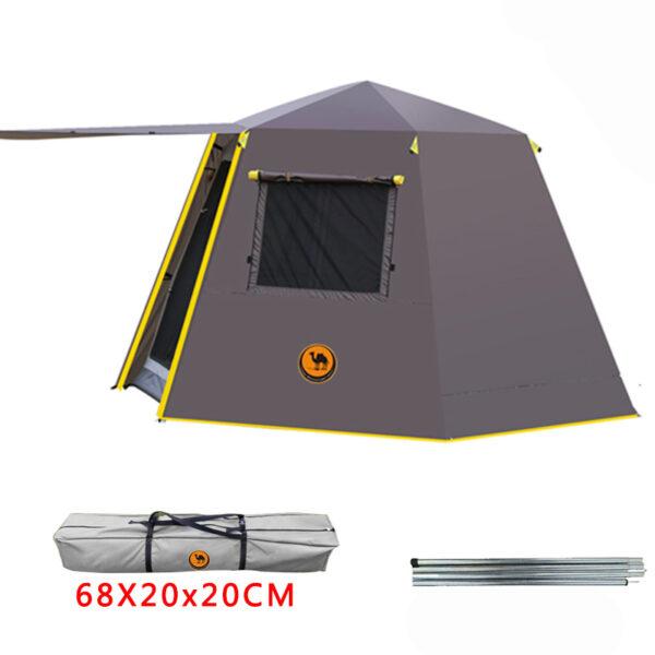 UV hexagonal aluminum pole automatic Outdoor camping wild big tent 3 4persons awning garden pergola 245 4