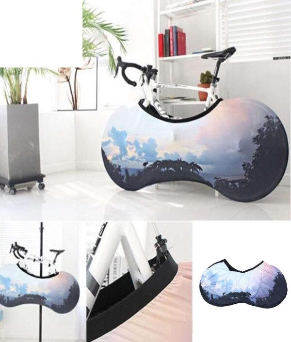 Universal Bicycle Bike Wheel Cover Bags Waterproof UV Weather Elastic Anti Dust Rust Resistant Gear Storage 1 1