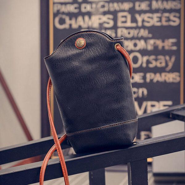 Women Vintage Messenger Zero Purse Bag PU Leather Small Magnetic Buck Slim Crossbody Shoulder Handbag Small 1 1