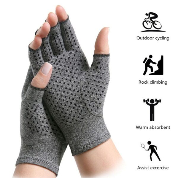 a pair 2018 NEW Hands Arthritis Gloves Therapeutic Compression Men Woman Circulation Grip Compression Arthritis Gloves 2
