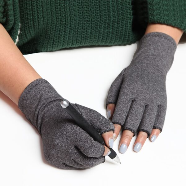 a pair 2018 NEW Hands Arthritis Gloves Therapeutic Compression Men Woman Circulation Grip Compression Arthritis Gloves 3