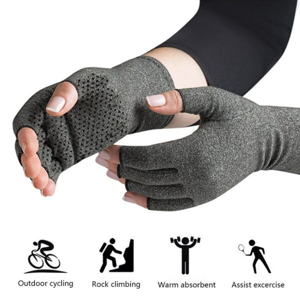 a pair 2018 NEW Hands Arthritis Gloves Therapeutic Compression Men Woman Circulation Grip Compression Arthritis Gloves