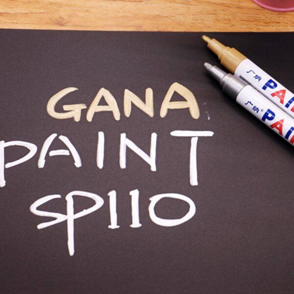 colorful Waterproof pen Car Tyre Tire Tread CD Metal Permanent Paint markers Graffiti Oily Marker Pen 2