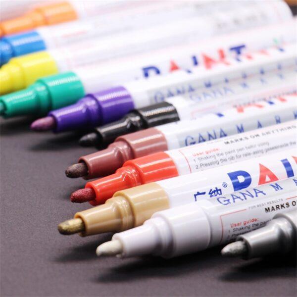 colorful Waterproof pen Car Tyre Tire Tread CD Metal Permanent Paint markers Graffiti Oily Marker Pen 3