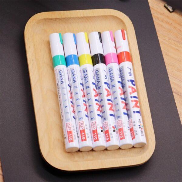 colorful Waterproof pen Car Tyre Tire Tread CD Metal Permanent Paint markers Graffiti Oily Marker Pen 5