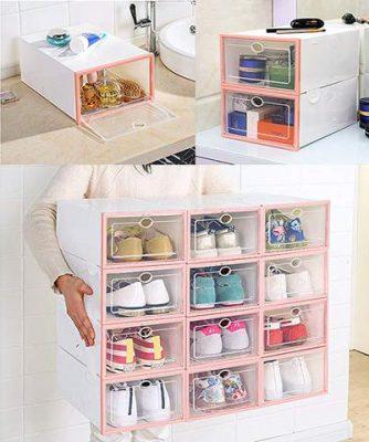 Drop Front Organization Boxes, Drop Front Organization Boxes 6 pcs