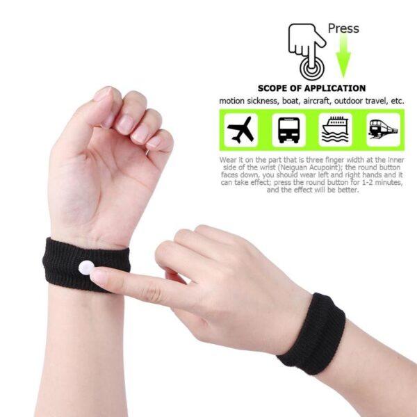 1 pair Anti nausea Wrist Support Sports Safety Wristbands Carsickness Seasick Anti Motion Sickness Wrist Bands