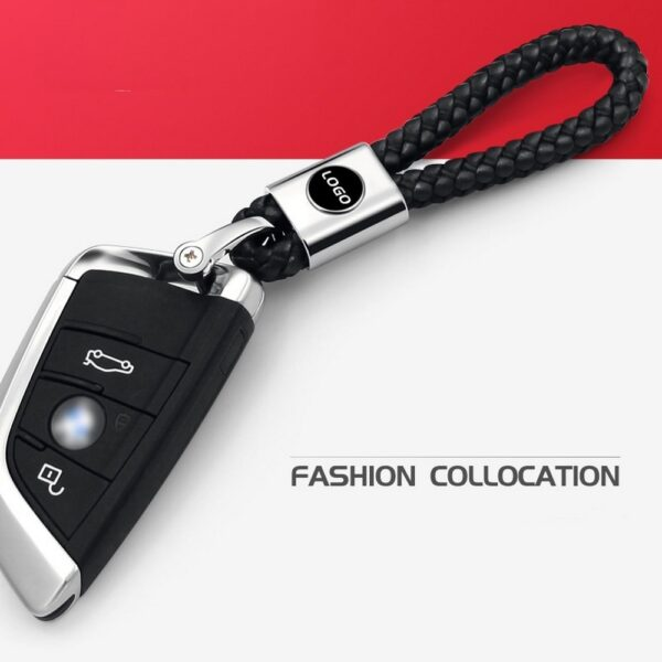 11cm Black Car Keychain 3D LOGO Car Keys Ring Car Logo Auto Keychain Best Festival Gift 1