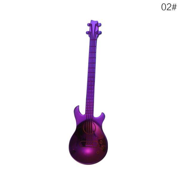 1Pcs Stainless Steel Cartoon guitar Spoon Creative Milk Coffee Spoon Ice Cream Candy Teaspoon accessories 1.jpg 640x640 1