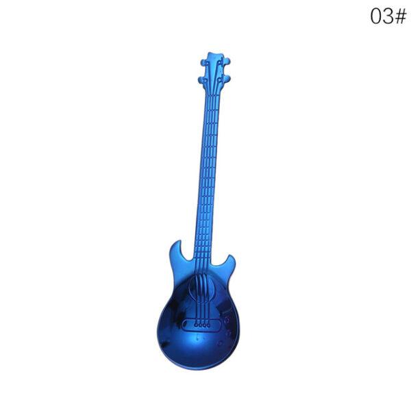 1Pcs Stainless Steel Cartoon guitar Spoon Creative Milk Coffee Spoon Ice Cream Candy Teaspoon accessories 2.jpg 640x640 2