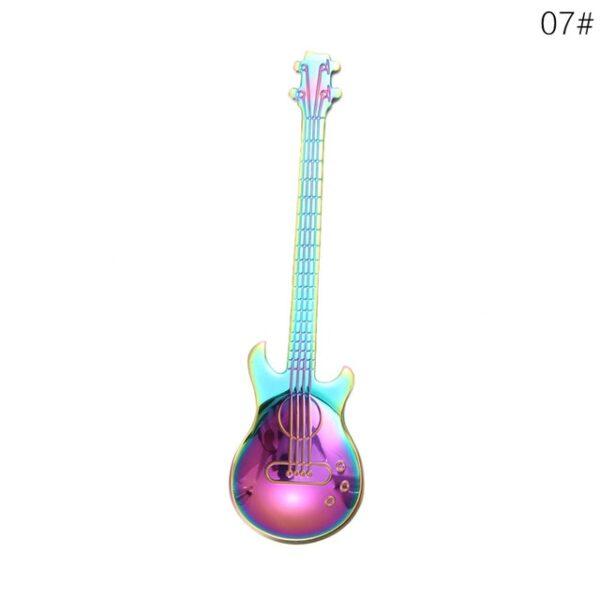 1Pcs Stainless Steel Cartoon guitar Spoon Creative Milk Coffee Spoon Ice Cream Candy Teaspoon accessories 6.jpg 640x640 6