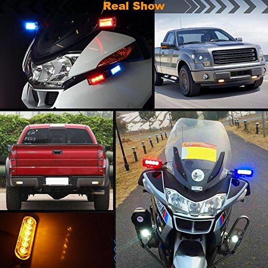 1pc 12 24V 6 LED Car Truck Emergency Warning LED Strobe Flash Light Hazard Flashing Lamp 5