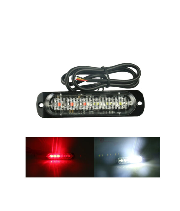 1pc 12 24V 6 LED Car Truck Emergency Warning LED Strobe Flash Light Hazard Flashing Lamp 6