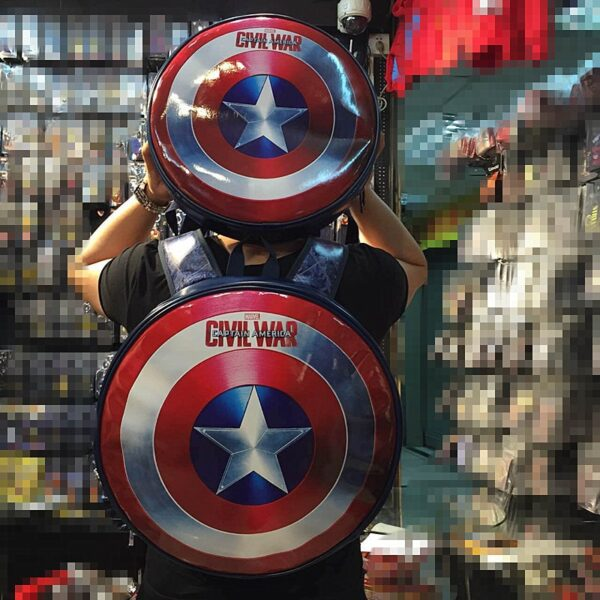 2018 Fashion The Captain America shield backpack Small bule Backpacks Special personality Women Bags American film 1