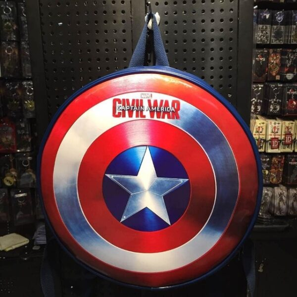 2018 Fashion The Captain America shield backpack Small bule Backpacks Special personality Women Bags American