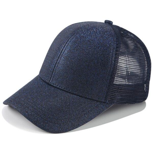 2018 Glitter Ponytail Baseball Cap Women Snapback Dad Hat Mesh Trucker Caps Messy Bun Summer Hat 10.jpg 640x640 10