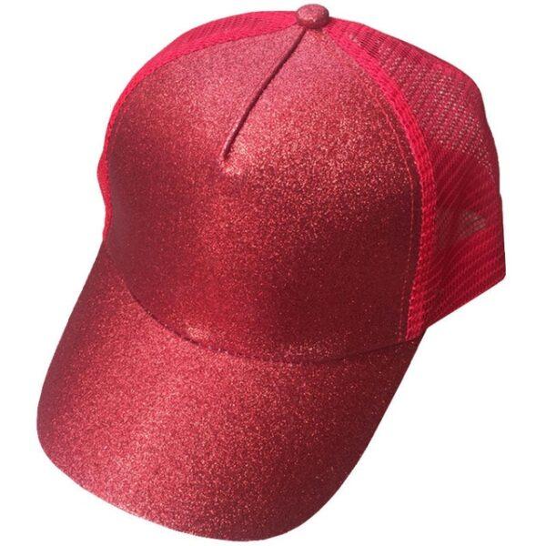 2018 Glitter Ponytail Baseball Cap Women Snapback Dad Hat Mesh Trucker Caps Messy Bun Summer Hat 11.jpg 640x640 11