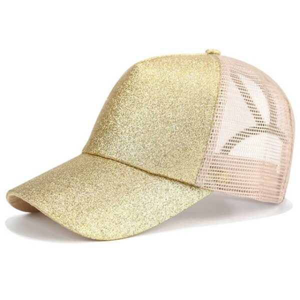 2018 Glitter Ponytail Baseball Cap Women Snapback Dad Hat Mesh Trucker Caps Messy Bun Summer Hat 2.jpg 640x640 2
