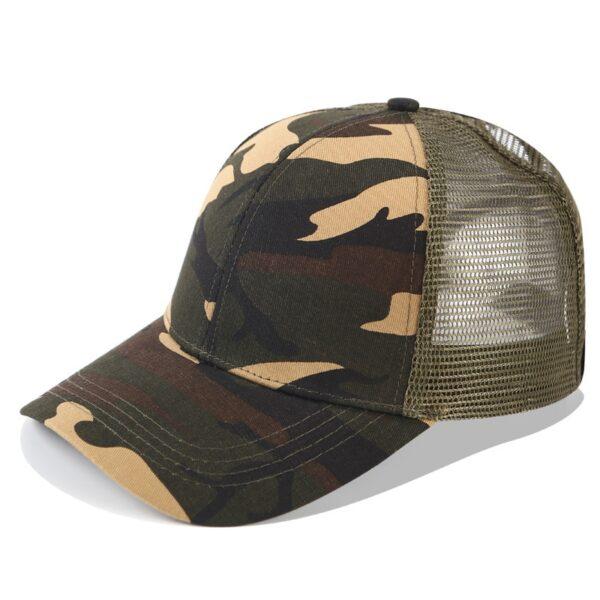 2018 Glitter Ponytail Baseball Cap Women Snapback Dad Hat Mesh Trucker Caps Messy Bun Summer Hat 3
