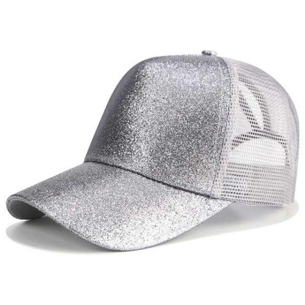 2018 Glitter Ponytail Baseball Cap Women Snapback Dad Hat Mesh Trucker Caps Messy Bun Summer Hat 3.jpg 640x640 3