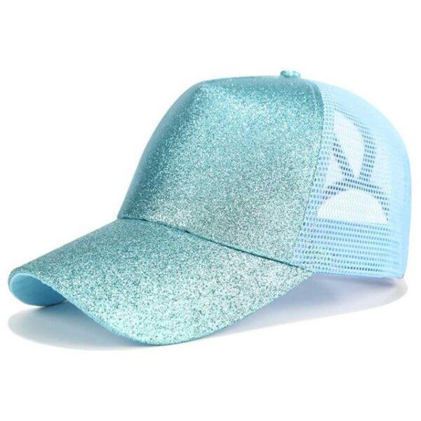 2018 Glitter Ponytail Baseball Cap Women Snapback Dad Hat Mesh Trucker Caps Messy Bun Summer Hat 4.jpg 640x640 4