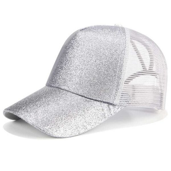 2018 Glitter Ponytail Baseball Cap Women Snapback Dad Hat Mesh Trucker Caps Messy Bun Summer Hat 5.jpg 640x640 5