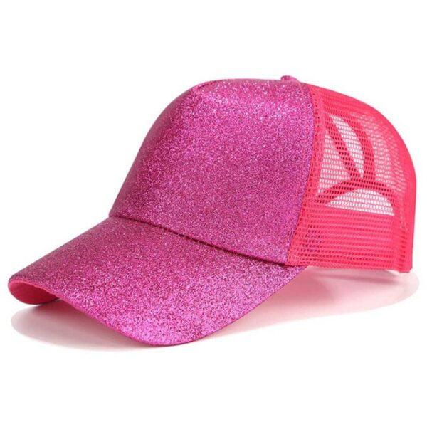 2018 Glitter Ponytail Baseball Cap Women Snapback Dad Hat Mesh Trucker Caps Messy Bun Summer Hat 7.jpg 640x640 7