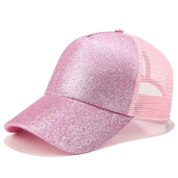 2018 Glitter Ponytail Baseball Cap Women Snapback Dad Hat Mesh Trucker Caps Messy Bun Summer Hat 9.jpg 640x640 9