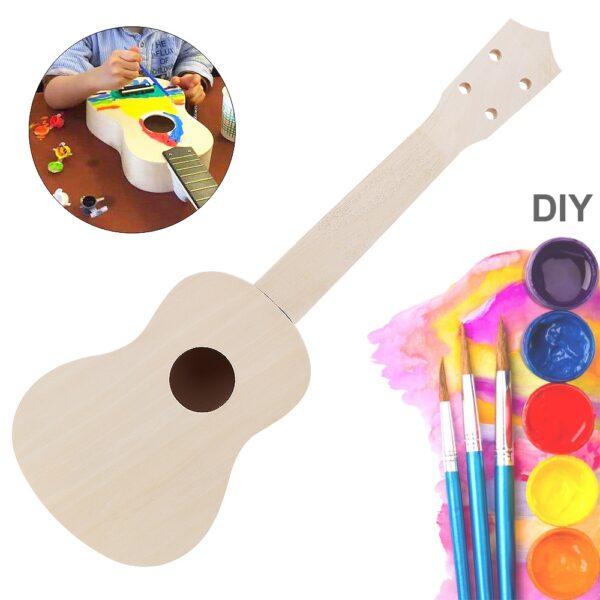 21 Inch Ukulele DIY Kit Basswood Soprano Hawaii Guitar Handwork Painting Ukelele for Parents child Campaign 1