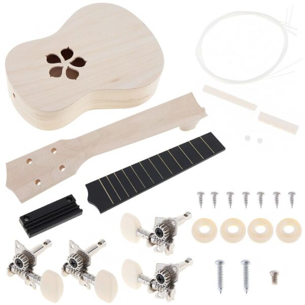 21 Inch Ukulele DIY Kit Basswood Soprano Hawaii Guitar Handwork Painting Ukelele for Parents child Campaign 2