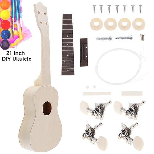 21 Inch Ukulele DIY Kit Basswood Soprano Hawaii Guitar Handwork Painting Ukelele for Parents child Campaign 2.jpg 640x640 2