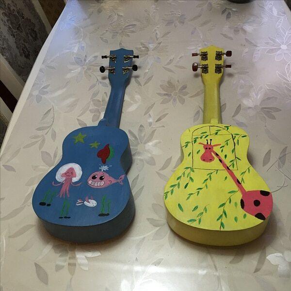 21 Inch Ukulele DIY Kit Basswood Soprano Hawaii Guitar Handwork Painting Ukelele for Parents child Campaign 4