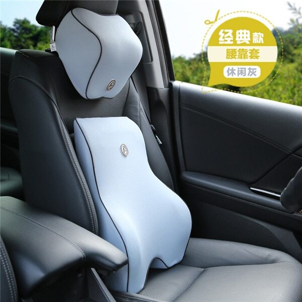 2pcs Car Auto Seat Supports Back Cushion And Headrest Neck Pillow Memory Foam Lumbar Back Support 1.jpg 640x640 1