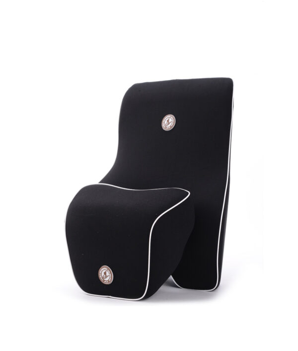2pcs Car Auto Seat Supports Back Cushion And Headrest Neck Pillow Memory Foam Lumbar Back Support 2 1