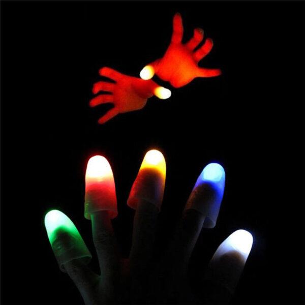 2pcs Thumbs Led Light up Toys Kids Magic Trick Props Funny Flashing Fingers Fantastic Glow Toys 1