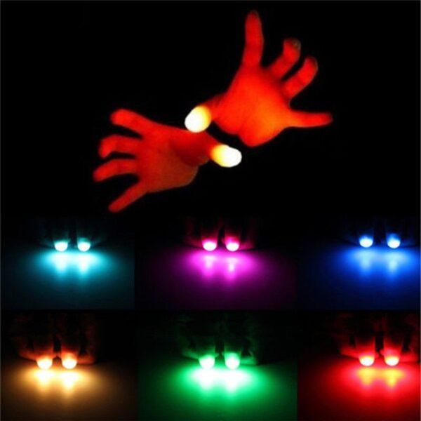 2pcs Thumbs Led Light up Toys Kids Magic Trick Props Funny Flashing Fingers Fantastic Glow Toys 4
