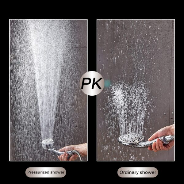 360 Degrees Rotating Shower Head Adjustable Water Saving Shower Head 3 Mode Shower Water Pressure Shower 4