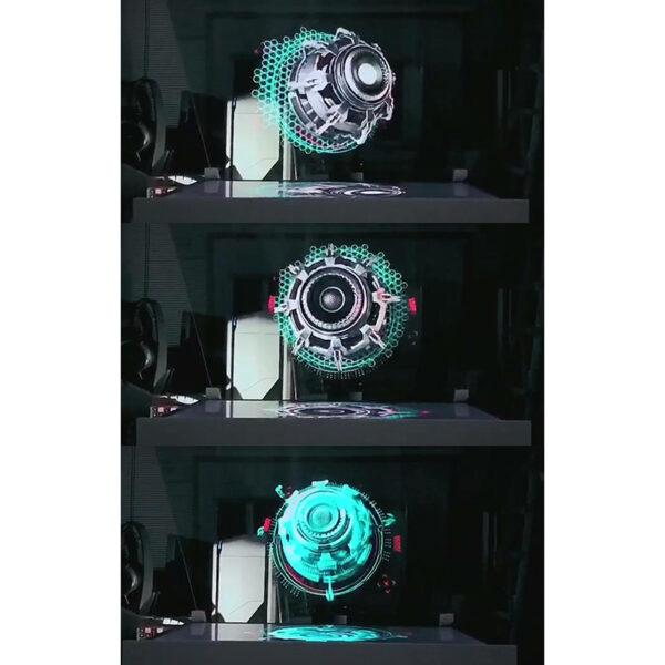 3D Hologram Advertising Display LED Fan Holographic Imaging 3D Naked Eye LED Fan light 3d Display 1
