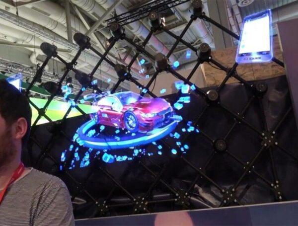 3D Hologram Advertising Display LED Fan Holographic Imaging 3D Naked Eye LED Fan light 3d Display 5