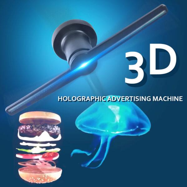 3D Hologram Advertising Display LED Fan Holographic Imaging 3D Naked Eye LED Fan light 3d Display 6