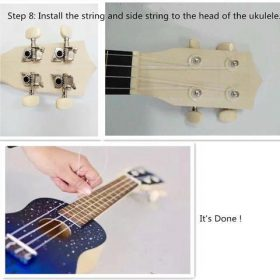 Inch Ukulele DIY Kit, 21 Inch Ukulele DIY Kit